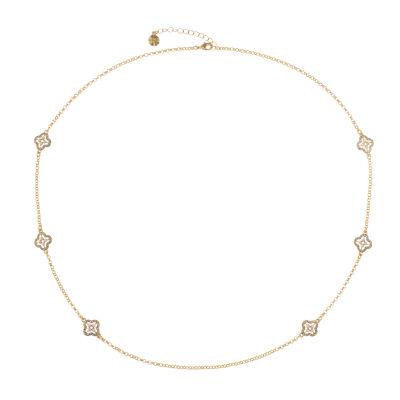 Monet Jewelry Womens White Strand Necklace