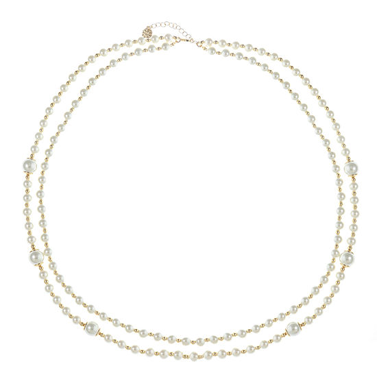 Monet Jewelry White 28 Inch Cable Strand Necklace