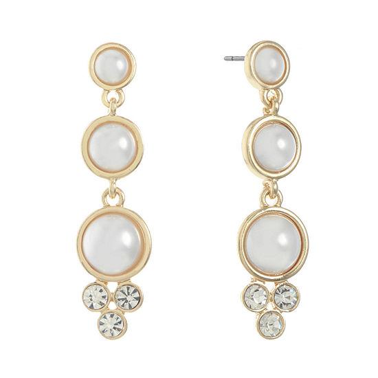 Monet Jewelry 1 Pair White Drop Earrings
