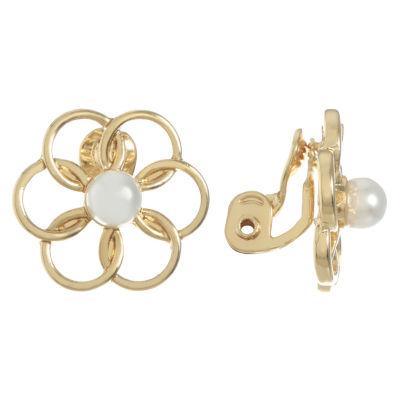 Monet Jewelry White 20mm Stud Earrings