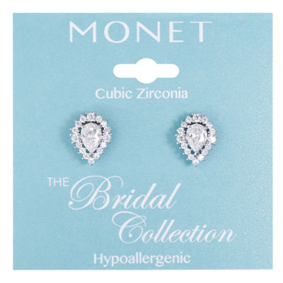 Monet Jewelry Cubic Zirconia 13mm Stud Earrings