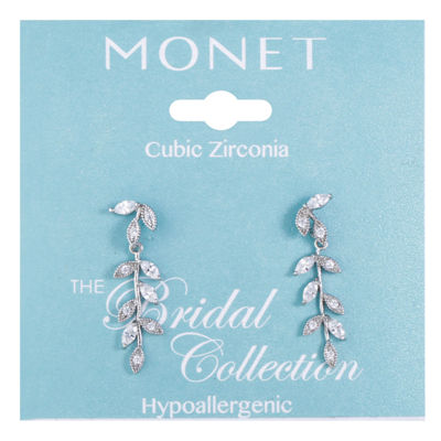 Monet Jewelry Cubic Zirconia Drop Earrings