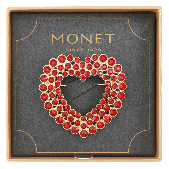 Monet Jewelry Red Heart Pin