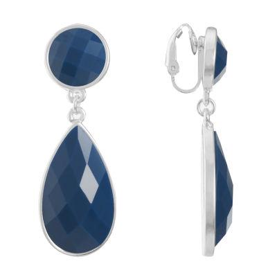 Liz Claiborne Blue Clip On Earrings