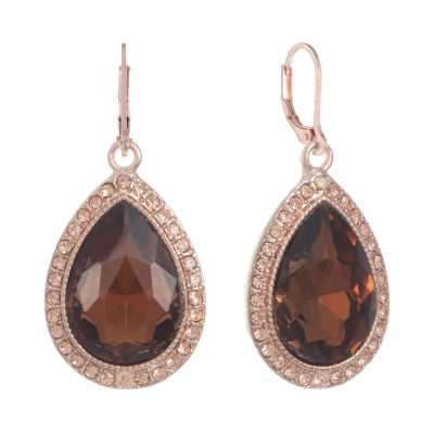 Monet Jewelry Brown Drop Earrings