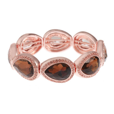 Monet Jewelry Womens Brown Stretch Bracelet