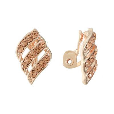 Monet Jewelry Orange Clip On Earrings
