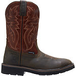 Wolverine Mens Rancher Waterproof Slip Resistant Pull-on Work Boots