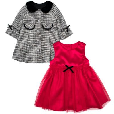 Nanette Baby Short Sleeve Dress Set - Baby Girls