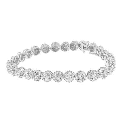 4 CT. T.W. Genuine White Diamond 14K White Gold 7 Inch Tennis Bracelet