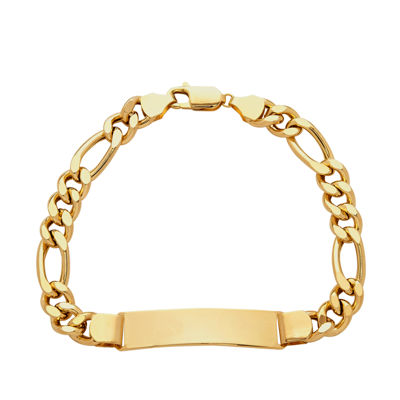 Made In Italy 10k Gold 8 1 2 Inch Hollow Figaro Link Bracelet Jcpenney