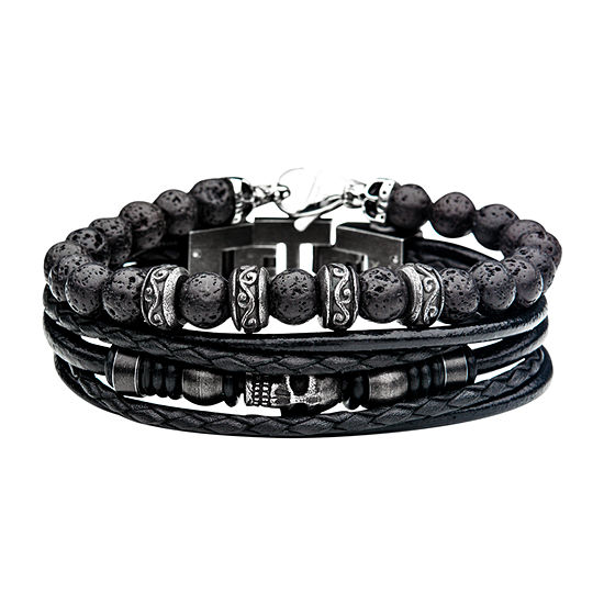 Inox Mens Jewelry 2-pc. Stainless Steel Bracelet Set