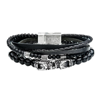 Inox Mens Jewelry 2-pc. Stainless Steel Bracelet Set