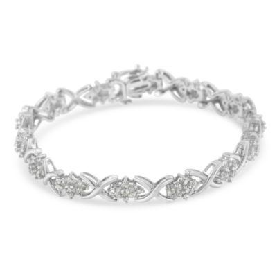 2 1/3 CT. T.W. White Diamond 7 Inch Tennis Bracelet