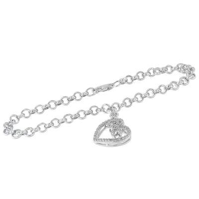 1/4 CT. T.W. White Diamond Charm Bracelet