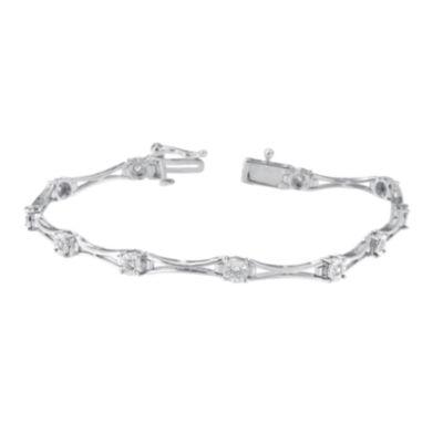 1/4 CT. T.W. White Diamond Sterling Silver 7 Inch Tennis Bracelet