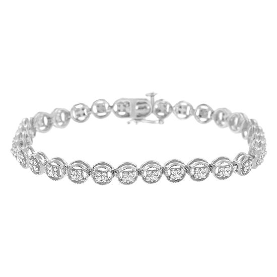 1 4 Ct Tw White Diamond Sterling Silver 7 Inch Tennis Bracelet