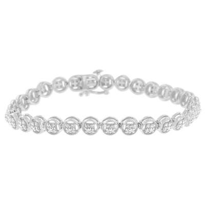 1/10 CT. T.W. White Diamond Sterling Silver 7 Inch Tennis Bracelet