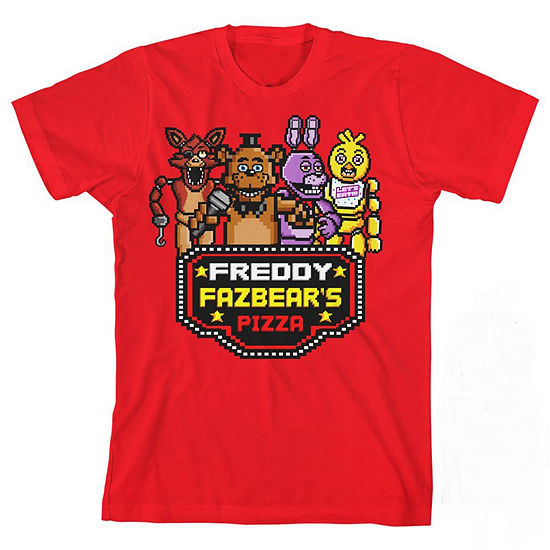 Boys Round Neck Short Sleeve Five Nights At Freddys Graphic T Shirt Preschool Big Kid