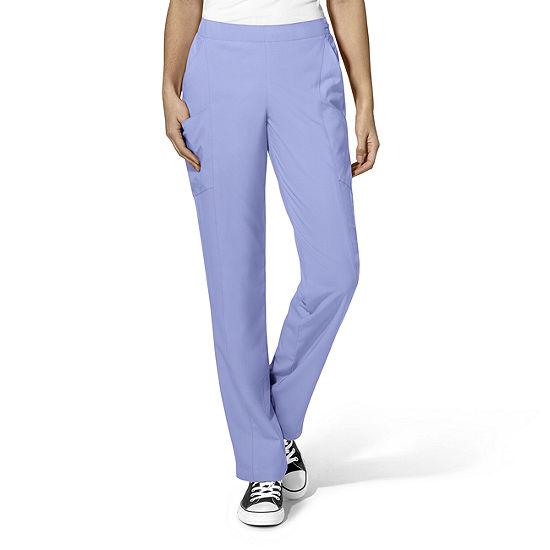 W123 by WonderWink® 5155 - Women's Full Elastic Flat Front Pant - Petite & Petite Plus