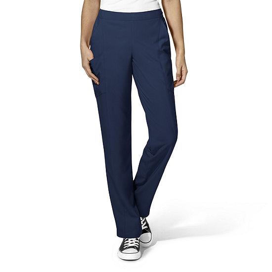 W123 by WonderWink® 5155 - Women's Full Elastic Flat Front Pant - Tall & Tall Plus