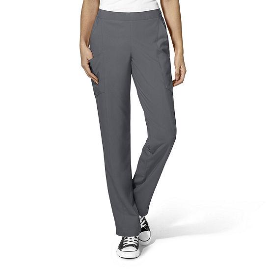 W123 by WonderWink® 5155 - Women's Full Elastic Flat Front Pant - Plus