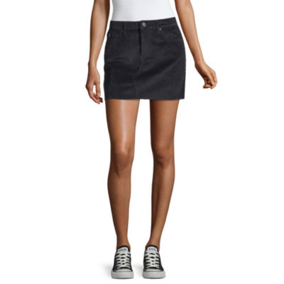 Us Polo Assn. Womens Mid Rise Short Denim Skirt-Juniors