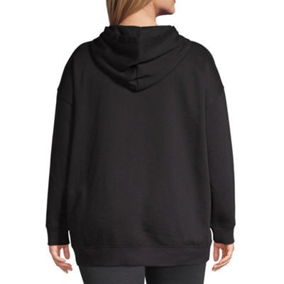 Flirtitude Long Sleeve Fleece Hoodie-Juniors Plus