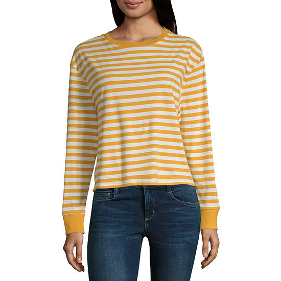 15df2e61b Arizona-Womens Round Neck Long Sleeve T-Shirt Juniors - JCPenney