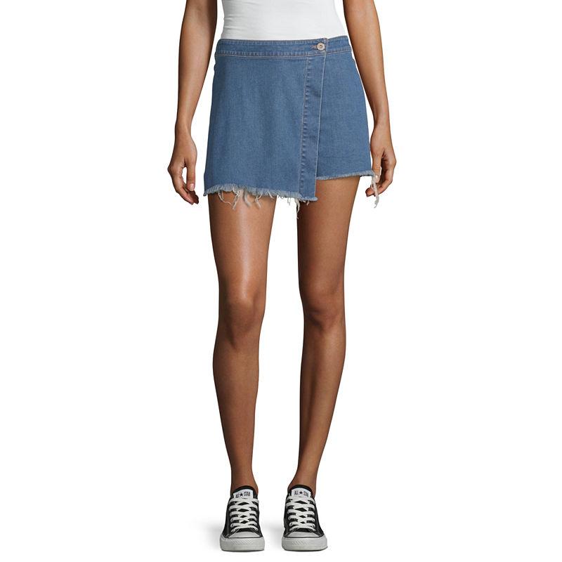 image of Arizona Womens Short Denim Skirt-Juniors