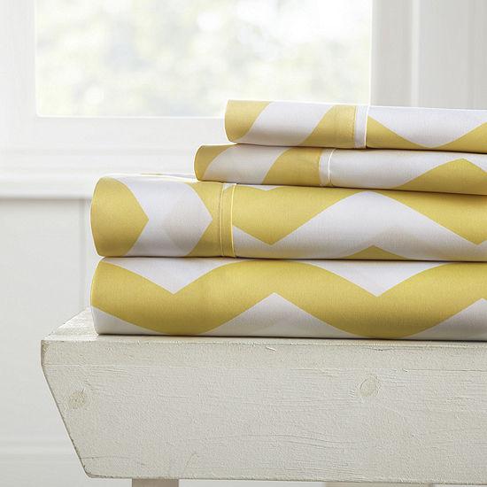 Casual Comfort™ Premium Ultra Soft Arrow Pattern Microfiber Wrinkle Free Sheet Set