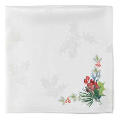 North Pole Trading Co. Watercolor Poinsettia 4-pc. Napkins