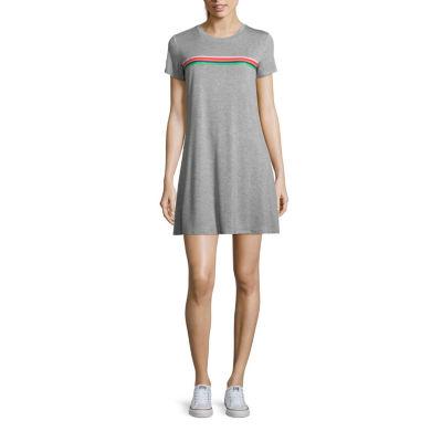 Fire Short Sleeve T-Shirt Dresses - Juniors