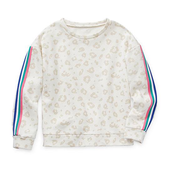 Arizona Little & Big Girls Crew Neck Long Sleeve Sweatshirt