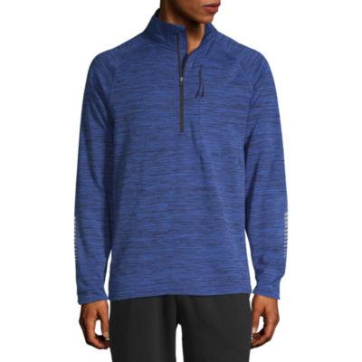 Xersion Mens Mock Neck Long Sleeve Quarter-Zip Pullover