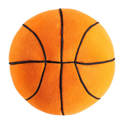 Frank And Lulu Plush Basketball Round Throw Pillow