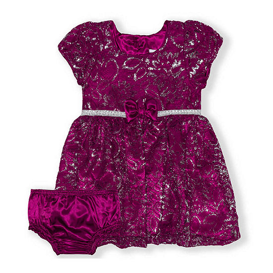 Nannette Baby Girls Short Sleeve Dress Set