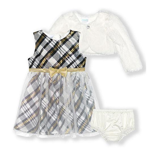 Nannette Baby Girls Sleeveless Dress Set