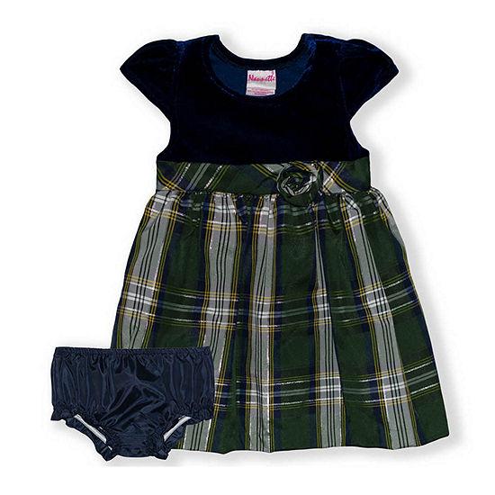 Nannette Baby Baby Girls Sleeveless Cap Sleeve A-Line Dress