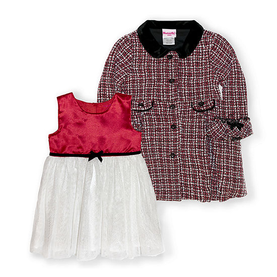 Nannette Baby Baby Girls Short Sleeve 2-pc. Dress Set