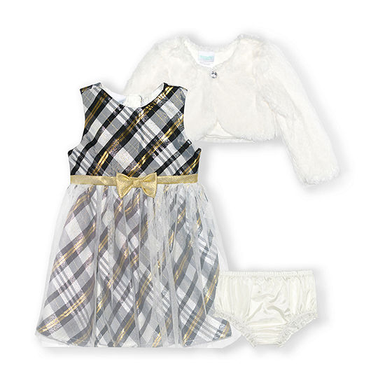 Nannette Baby Girls Sleeveless Dress Set