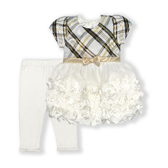 Nannette Baby Girls Short Sleeve Dress Set