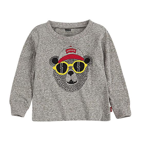 Levi's Baby Boys Crew Neck Long Sleeve Graphic T-Shirt