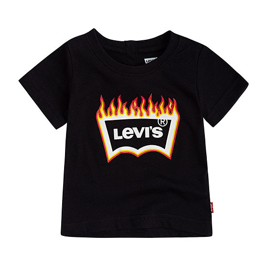Levi's Baby Boys Crew Neck Short Sleeve Graphic T-Shirt