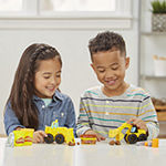 Play Doh Wheels Excavator And Loader Toy Construction Trucks With Non-Toxic Sand Buildin' Compound Plus 2 Additional Colors