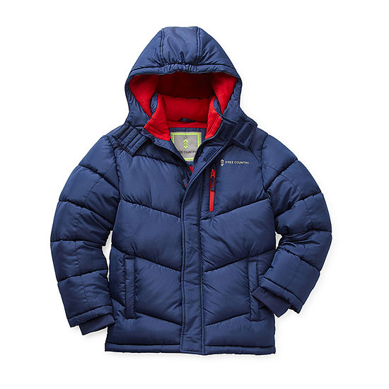Free Country Little & Big Boys Fleece Lined Water Resistant Heavyweight Puffer Jacket