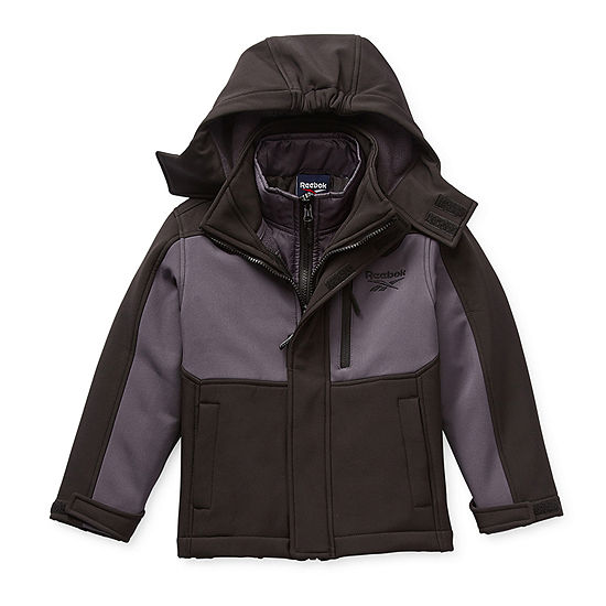 Reebok Big Boys Hooded Water Resistant Heavyweight 3-In-1 System Jacket