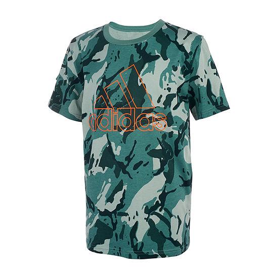 adidas Big Boys Crew Neck Short Sleeve T-Shirt