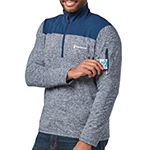 Free Country Sueded Melange Mens Mock Neck Long Sleeve Quarter-Zip Pullover