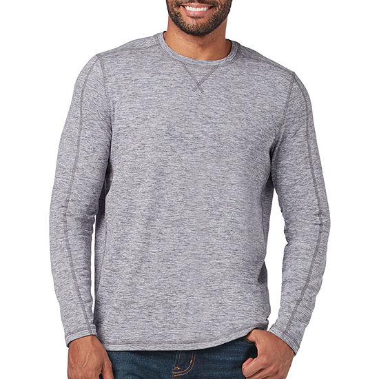 Free Country Sueded Melange Mens Crew Neck Long Sleeve Thermal Top